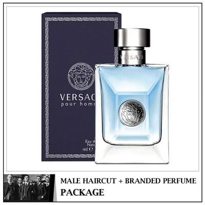 Kingsmen Barberhaüs Kulai Male Haircut Service + Perfume (Versace Pour Man 125ml)  Package