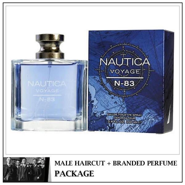 Kingsmen Barberhaüs Kulai Male Haircut Service + Perfume (NAUTICA Voyage EDT 125ml)  Package