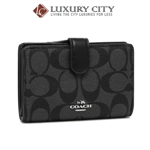 Coach folio wallet outlet Lady's COACH F23553 SVDK6 black