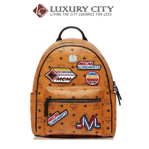 [Luxury City] Mcm Patch Applique Backpack Mcm-MMK8SVE34 (Brown/Mahogany)