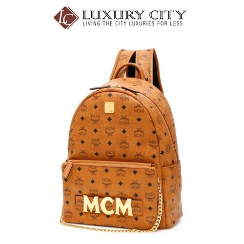[Luxury City] Mcm Visetos Trilogie Stark Brown Backpack Mcm-MMK8AVE72