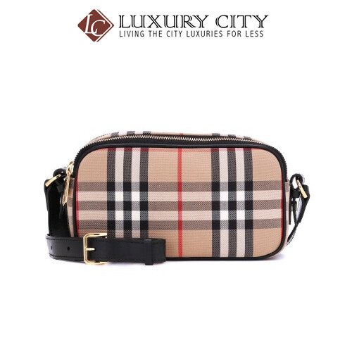 [Luxury City] Burberry Camera Micro Vintage Check Belt Bag Burberry-8023345