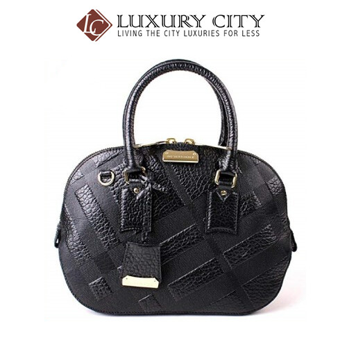 [Luxury City] Burberry Signature Grain Check Small Orchard Bowling Bag
