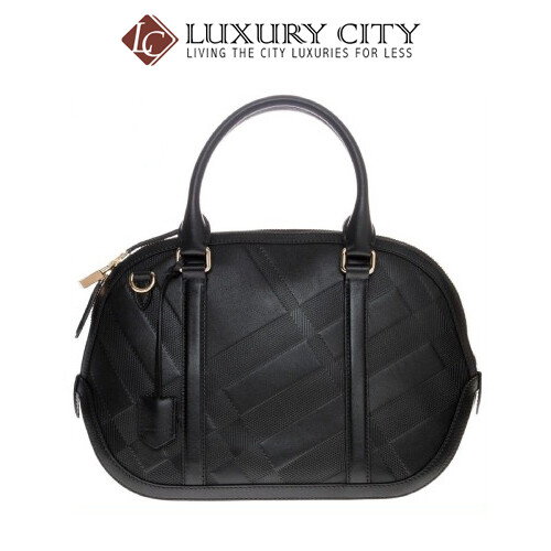 [Luxury City] Burberry Women's Small Soft Check Orcharge Handbag