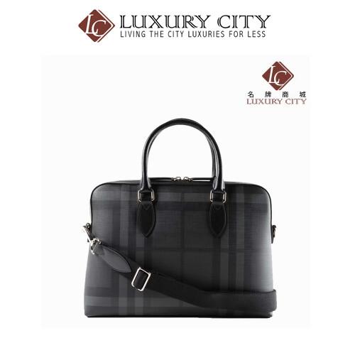 [Luxury City] Burberry Grey The Barrow Medium Briefcase Burberry-4056884