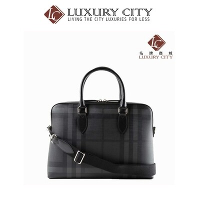 [Luxury City] Burberry Grey The Barrow Medium Briefcase Burberry-4056884