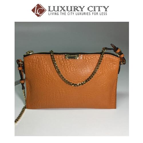 [Luxury City] Burberry Peyton Wristlet Bag In Orange