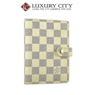 [Luxury City] Preloved Authentic Louis Vuitton Damier Azur Notebook Cover