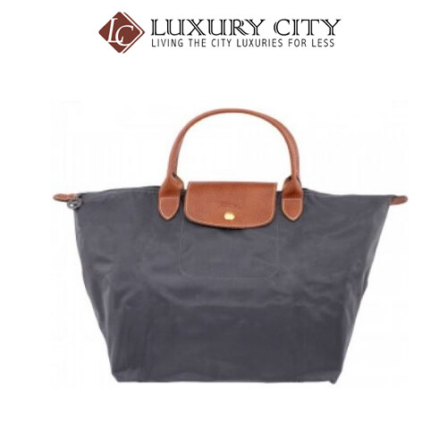 [Luxury City] Longchamp Le Pliage Ladies Medium Nylon Tote Handbag Grey Longchamp-L1623089