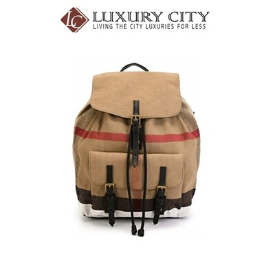 [Luxury City] Burberry Backpack Rucksack Brookdale Brown Brown Line