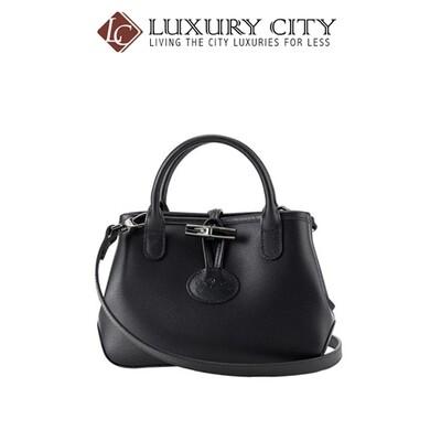 [Luxury City] Longchamp Roseau Cross Body Bag Black Longchamp-1016871