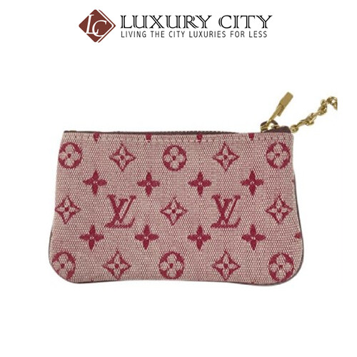 [Luxury City] Preloved Authentic Louis Vuitton (M47270) Monogram  Pink Keypouch