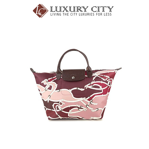 [Luxury City] Longchamp Le Pliage Galop Top-Handle M Lady's Maroon/Wine Longchamp-1623684