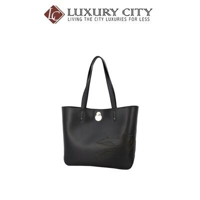 [Luxury City] Longchamp Shop It Black Leather Tote Bag Longchamp-L1378918