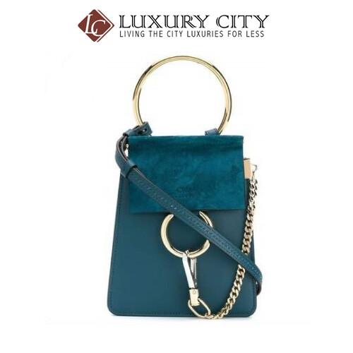 [Luxury City] Chloe Faye Small Bracelet Bag Chloe-17WS320 (Turqoise)