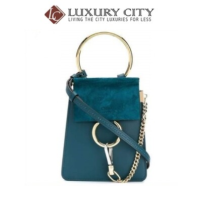 [Luxury City] Chloe Faye Small Bracelet Bag Chloe-17WS320 (Turqoise)