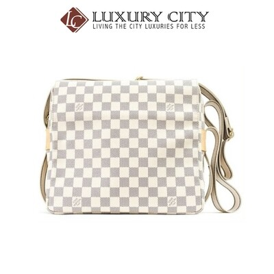 [Luxury City] Preloved Authentic Louis Vuitton Naviglio Damier Azur Crossbody
