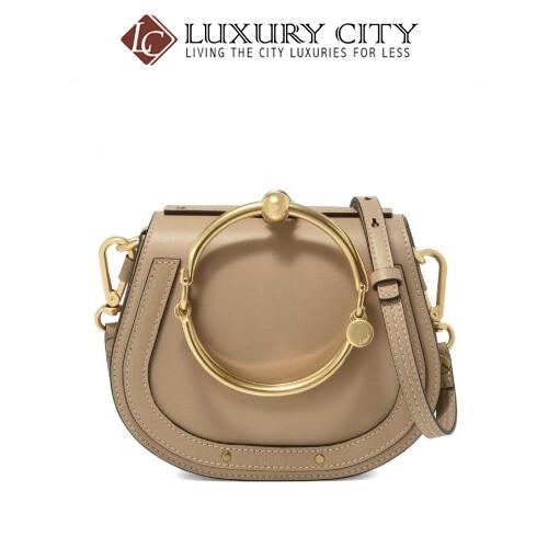 [Luxury City] Chloe Bag Lady Shoulder Handbag Small Nile Chloe-C17US301 (Beige)