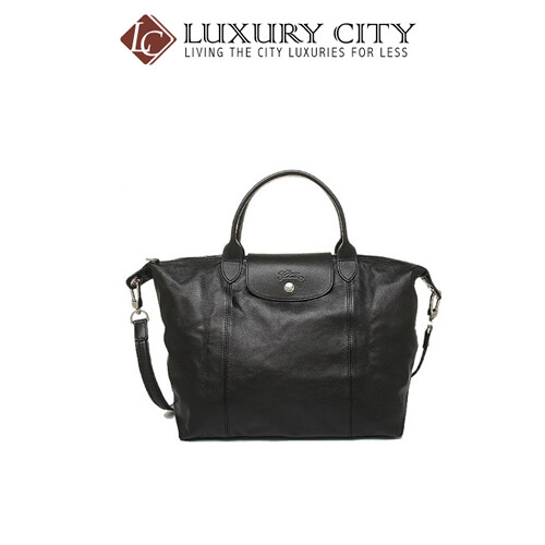 [Luxury City] Longchamp Le Pliage Cuir Top-Handle M