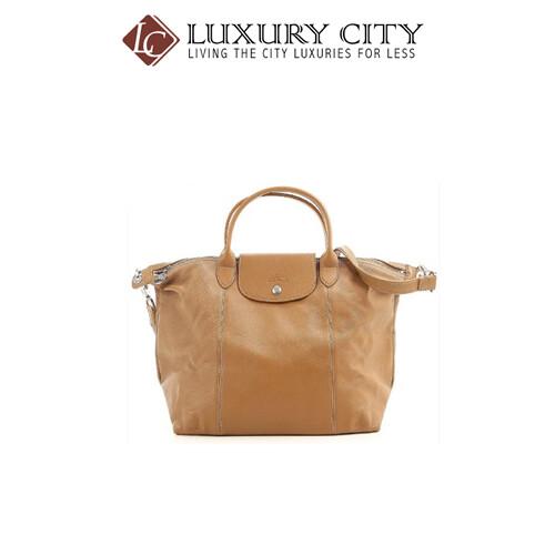 [Luxury City] Longchamp Le Pliage Cuir Lady's Leather Tote Bag