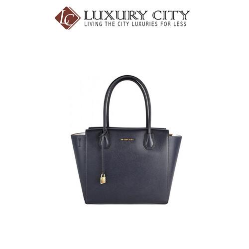 [Luxury City] Michael Kors 30H6SM9S3L Large Mercer Pebbled Satchel - Admiral