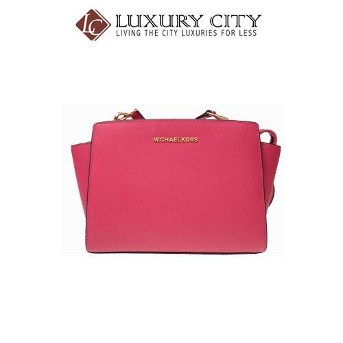 [Luxury City] Michael Kors Crossbody Pink Calfskin Leather MK-30T3GLMM2L564