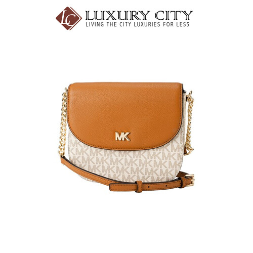 [Luxury City] Michael Kors Mott Logo Half Dome Crossbody MMK-32S8GF5C0B