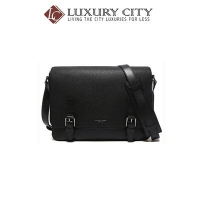 [Luxury City] Michael Kors Bryant Large Leather Messenger Black MK-33F5LYTM3T