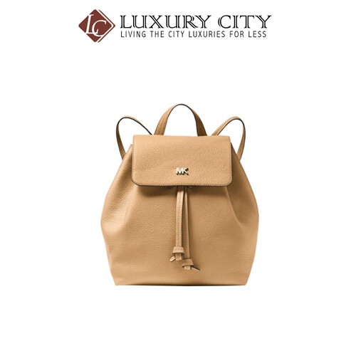 [Luxury City] Michael Kors Junie Medium Pebbled Leather Backpack Nude MMK-30T8TX5B2L