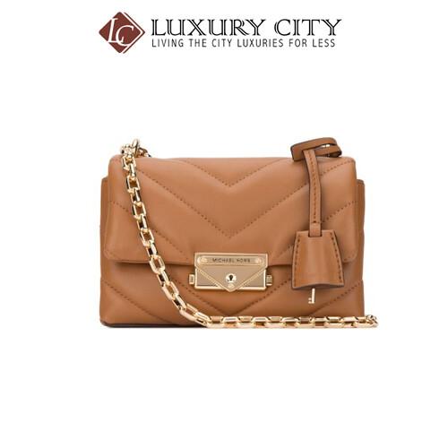 [Luxury City] Michael Kors Camel Leather Extra Small Cece Crossbody Bag Brown MichaelKors-32T9G0EC1L