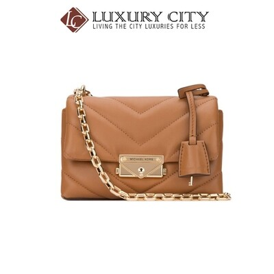 [Luxury City] Michael Kors Camel Leather Extra Small Cece Crossbody Bag Brown MichaelKors-32T9G0EC1L