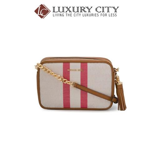 [Luxury City] Michael Kors Medium Camera Bag Brown MichaelKors-32T9GF5C6C