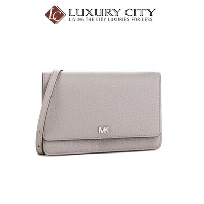 [Luxury City] Michael Kors Pebbled Leather Convertible Crossbody Bag Grey Michael Kors-32T8SF5C1L