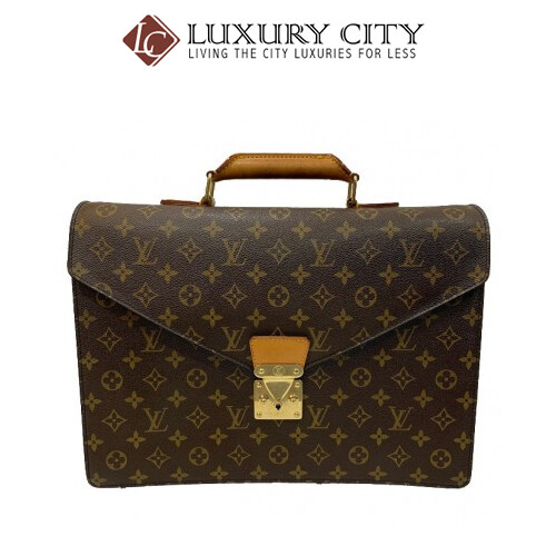 [Luxury City] Preloved Authentic Louis Vuitton Vintage Briefcase Advisor Monogram