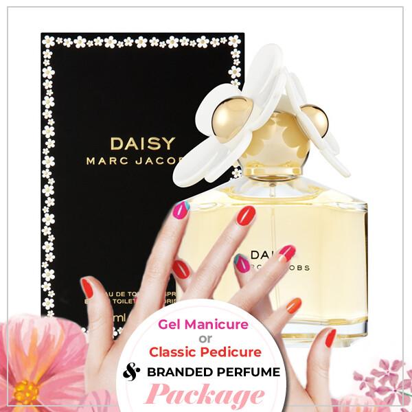JnS Nail&Beauty Salon Manicure/ Pedicure Service + Perfume (Marc Jacobs Daisy EDT 100ml) Package