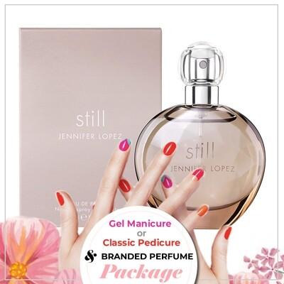 JnS Nail&Beauty Salon Manicure/ Pedicure Service + Perfume (Jennifer Lopez JLO Still EDP 100ml) Package