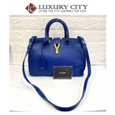 [Luxury City] Preloved Saint Laurent Chyc Leather Handbag