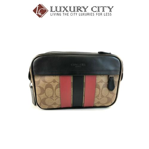 [Luxury City] Coach Graham Crossbody Signature Canvas Handbag Light Brown/Sand Coach-F85037