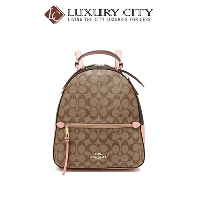 [Luxury City] Coach Jordyn Backpack In Blocked Signature Canvas Light Pink Coach-F76715