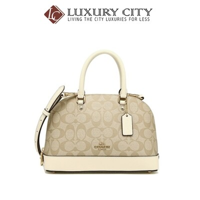 [Luxury City] Coach Mini SierraI Satchel White Coach-F27583