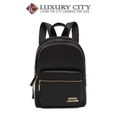 [Luxury City] Marc Jacobs Trek Pack Leather Medium Backpack Black MJ-M0014268