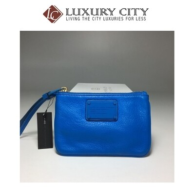[Luxury City] Marc By Marc Jacobs Electro Q Small Wristlet In Blu