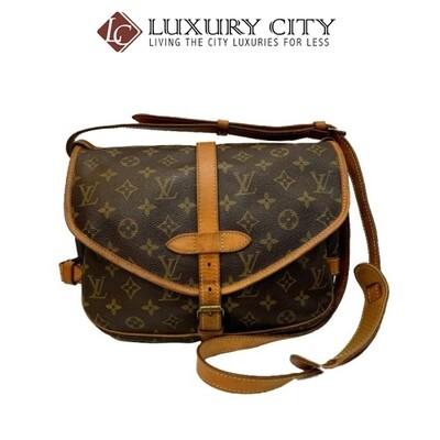[Luxury City] Preloved Authentic Louis Vuitton Monogram Canvas Saumur Shoulder Bag Vintage