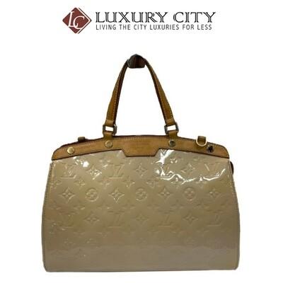 [Luxury City] Preloved Authentic Louis Vuitton Amarante Monogram Vernis Brea GM Bag White 050705