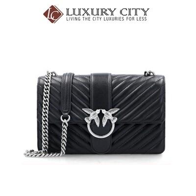 [Luxury City] Pinko Leather Messenger Bag Love Mix Pinko-1P21HG (Black)