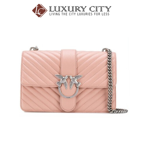 [Luxury City] Pinko Mix Love Bag In Quilted Nappa Pinko-1P21HG (Light Pink)