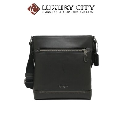 [Luxury City] Coach Graham Flat Crossbody Black Coach-F78147