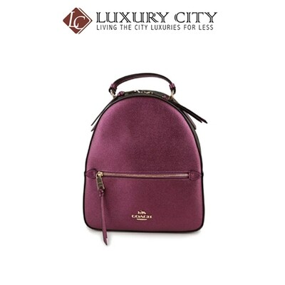 [Luxury City] Coach Jordyn Backpack In Signature Canvas Dark Purple Coach-F85029