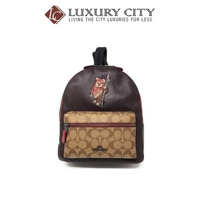 [Luxury City] Star Wars X Coach Medium Charlie Backpack In Signature Canvas With Ewok Coach-F88014
