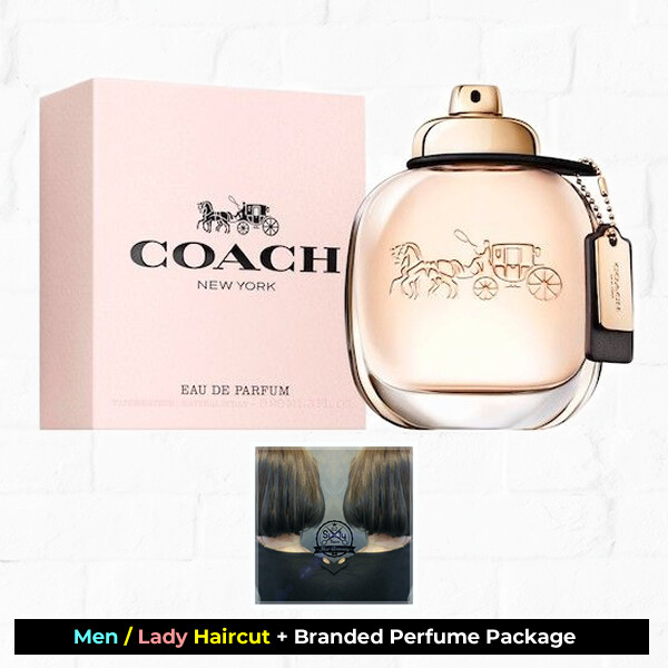 Sixty-Two Hair Glooming Hair Cut Service + Perfume (Coach EDP 90ml ) Package